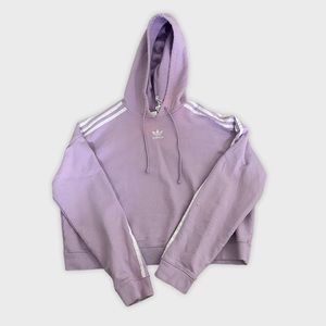 Adidas classic cropped hoodie